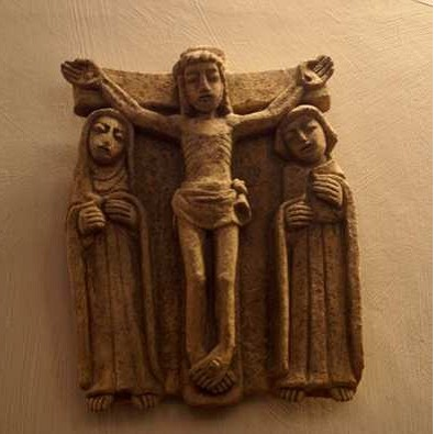 Jésus sur la croix, sa mère et son disciple
